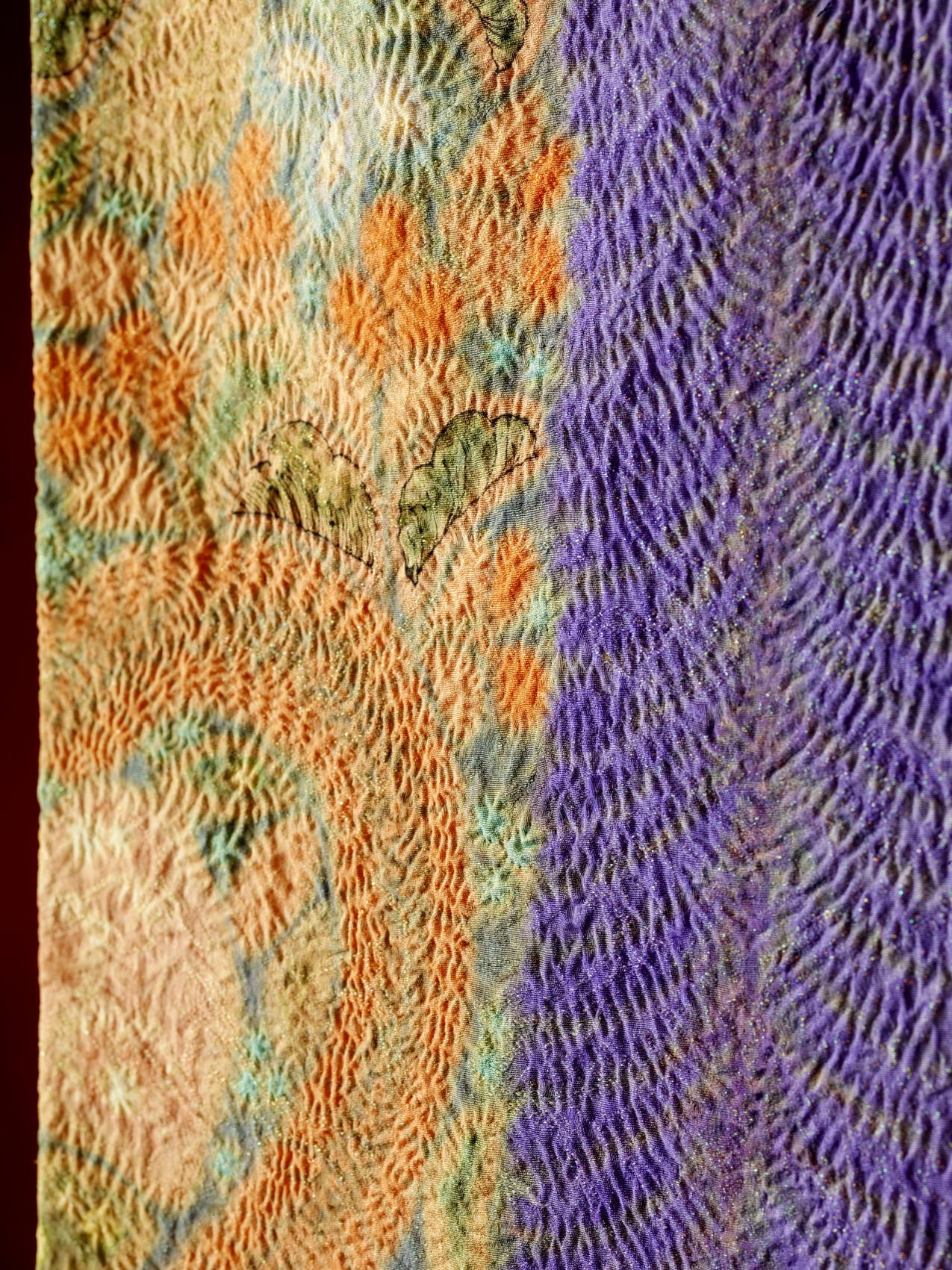 Kubota's creative process – Itchiku tsujigahana